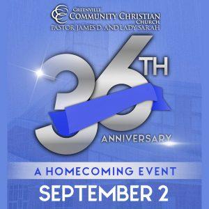 GCCC's 36th Church Anniversary @ Greenville Community Christian Church | Greenville | North Carolina | United States