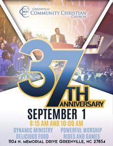 GCCC's 37th Church Anniversary @ Greenville Community Christian Church | Greenville | North Carolina | United States