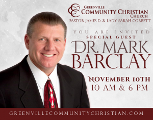 Guest Speaker: Dr. Mark Barclay